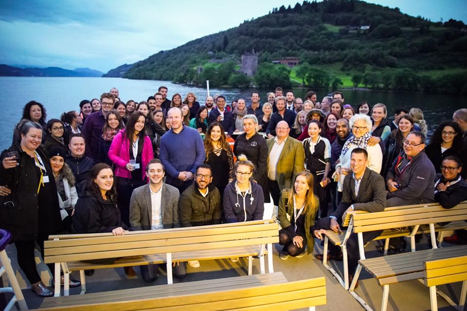 STS delegates on the Loch Ness cruise. (image courtesy of Marvin Schoenberg)