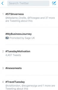 #STSInverness trending on Twitter.